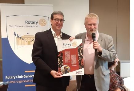 Dirk Lustig, from the Rotary Club Kyiv Mjultinational