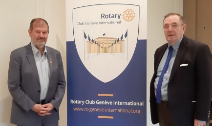 Michel Zaffran from the Rotary Club Gex-Divonne, District 1710