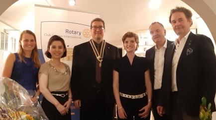 Enjoyable passation tonight. Hansjörg Eberle, club President, and his new Rotary Club board