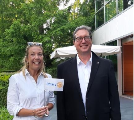 Visit of the 'Rotary Suisse Liechstenstein' Magazine Editor in Chief