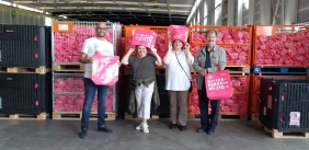 """Members of Rotary Genève International at Palexpo to assist with """"Caddies Pour Tous"""" at the end of August."""